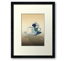 Storm in a Teacup - Tsea-nami! Framed Print