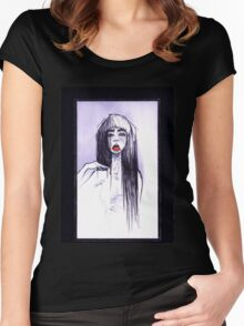Red Lipstick Women's Fitted Scoop T-Shirt