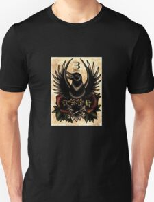 Traditional tattoo raven and roses T-Shirt