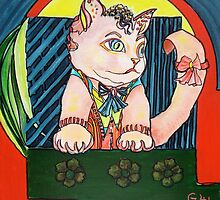 Cute Cat by Giselle Luske