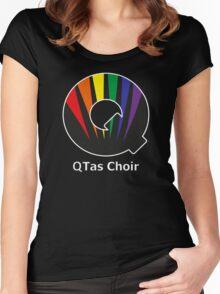 QTas Choir Logo (official choir performance shirt)  Women's Fitted Scoop T-Shirt