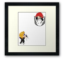 Natasha and her Knight in Shining Armor Framed Print