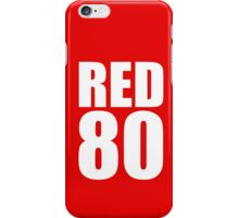 Colin Kaepernick - RED 80 - White text iPhone Case/Skin