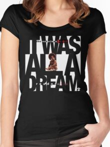 It was all a Dream - Cloud Nine [White] Women's Fitted Scoop T-Shirt