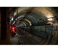 Melbourne Train Tunnel Photographic Print