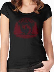 Pokemon - The Lake of Rage - Red Gyarados Women's Fitted Scoop T-Shirt
