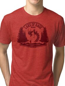 Pokemon - The Lake of Rage - Red Gyarados Tri-blend T-Shirt