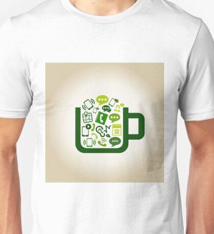 Communication a cup Unisex T-Shirt