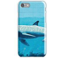 Dolphins graffiti mural iPhone Case/Skin