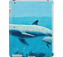 Dolphins graffiti mural iPad Case/Skin