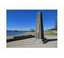 Modern Senotaph & Plaques, Scarborough, Moreton Bay. Queensland. Art Print