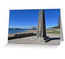 Modern Senotaph & Plaques, Scarborough, Moreton Bay. Queensland. Greeting Card
