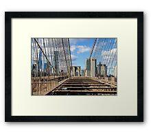 Brooklyn Bridge, New York, USA. Framed Print