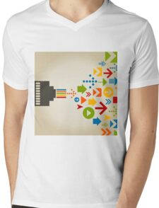 Connection the computer Mens V-Neck T-Shirt