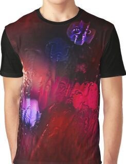 Red Glass Rain Graphic T-Shirt