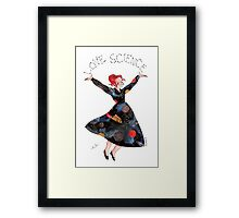 Miss Frizzle loves science Framed Print