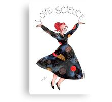 Miss Frizzle loves science Canvas Print