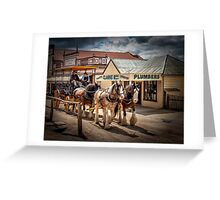 Sovereign Hill 1850 Greeting Card