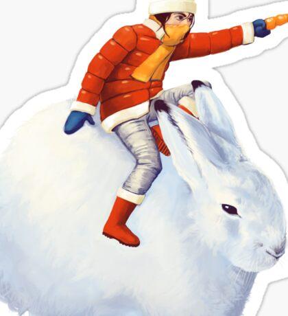 Snow Bunny Sticker