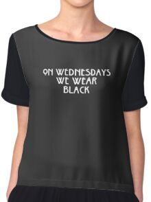 On Wednesday We Wear Black Funny Chiffon Top