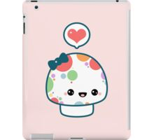 Cute Mushroom with Bow iPad Case/Skin