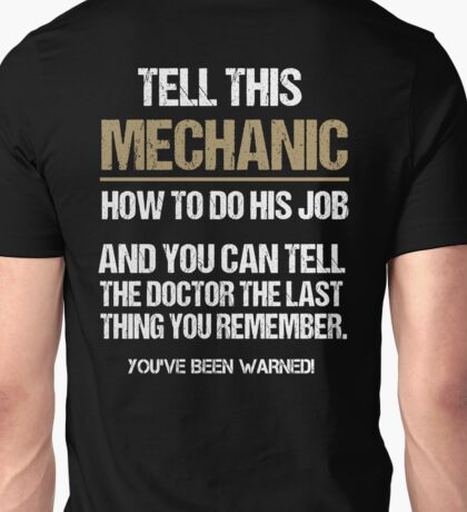 Mechanic Funny 2017 Unisex T-Shirt