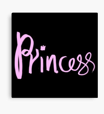 Princess Kawaii Typography Canvas Print