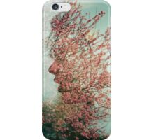 Cherry Blossom Double Exposure  iPhone Case/Skin