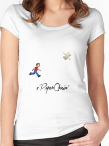#Paper Chasin' Women's Fitted Scoop T-Shirt