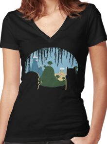 A View of Ooo Women's Fitted V-Neck T-Shirt