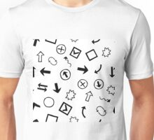 pattern with Doodle Hand-Drawn Design Elements Unisex T-Shirt