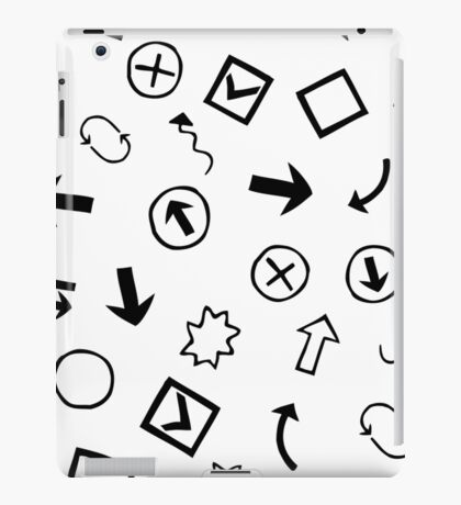 pattern with Doodle Hand-Drawn Design Elements iPad Case/Skin