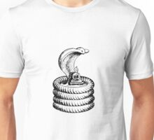 Lord Buddha Protected by Large King Cobra Unisex T-Shirt