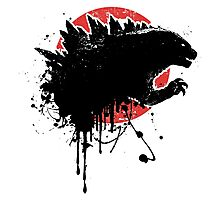 Godzilla 2014 Paint Splatter Design Photographic Print