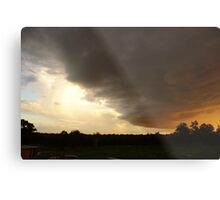 The storm approaches Metal Print