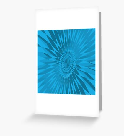 Turquoise Spirograph Greeting Card