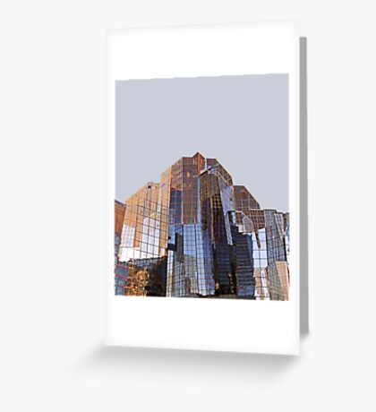 Corporate Glass Building. Greeting Card