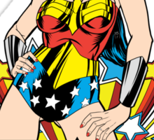 Wonder Woman on Blue Sticker