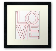 Abstract Shapes Love Framed Print