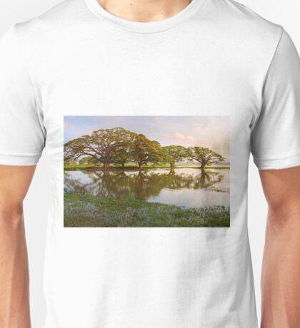Shady tropical trees by the lake, Sri Lanka Unisex T-Shirt