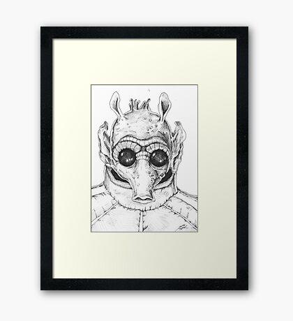 Star Wars Greedo Inked Framed Print