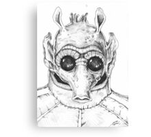Star Wars Greedo Inked Canvas Print
