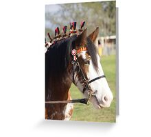 Draft horse decorated Greeting Card