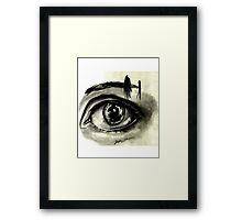 realistic deep eye Framed Print