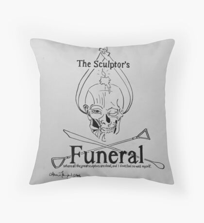 Skull and Compass Logo Throw Pillow