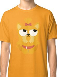 Shih Tzu Emoji Thinking Hard and Hmm Face Classic T-Shirt