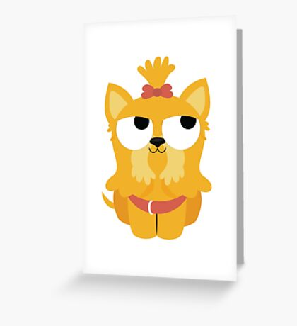 Shih Tzu Emoji Thinking Hard and Hmm Face Greeting Card