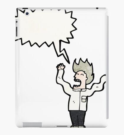 mad scientist cartoon iPad Case/Skin