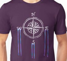 Watercolor Naval Compass [White Ink] Unisex T-Shirt