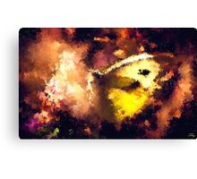 abstract butterfly insect flowers Canvas Print